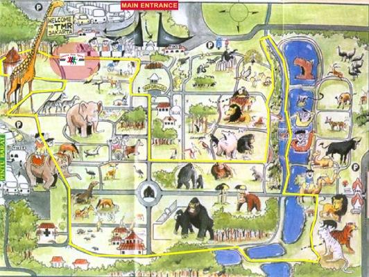 حديقة حيوانات المركز الدولى  - صفحة 4 Ragunanzoopicturemap